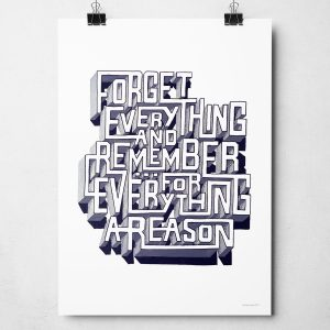 Ian Brown Fear Print. Hand-drawn typography music print from Sketchbook Design
