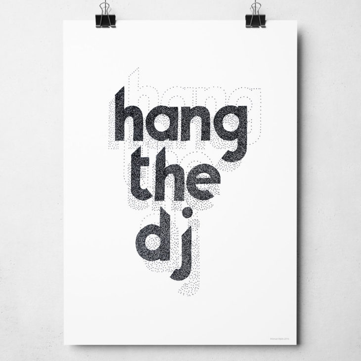 The Smiths Hang the DJ Print. Hand drawn typography design from Sketchbook Design