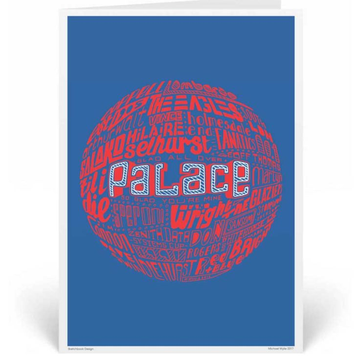 Crystal Palace Birthday Card by Sketchbook Design. Part of our football greeting cards range