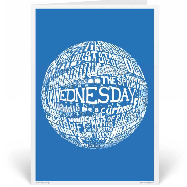 Sheffield Wednesday Birthday Card by Sketchbook Design. Part of our football greeting cards range
