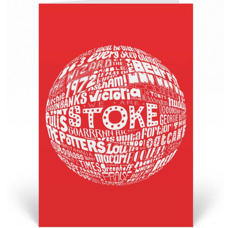 This Stoke City birthday card features a hand-drawn design that depicts the history of the Potters.