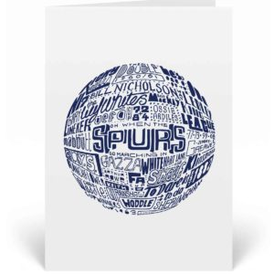 Tottenham Hotspur Birthday Card. Hand drawn football artwork by Sketchbook Design