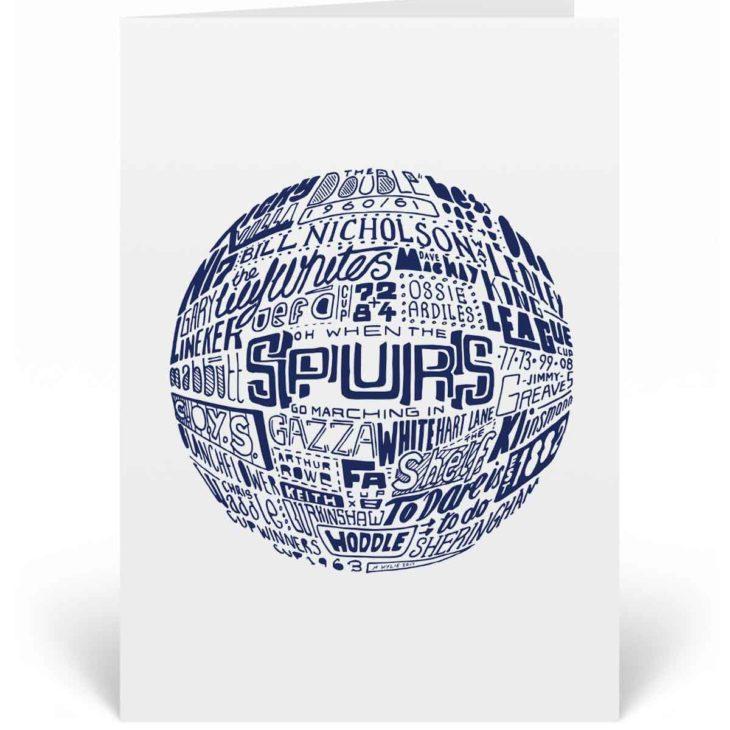 Tottenham Hotspur Birthday Card. Hand drawn football artwork by Sketchbook Design