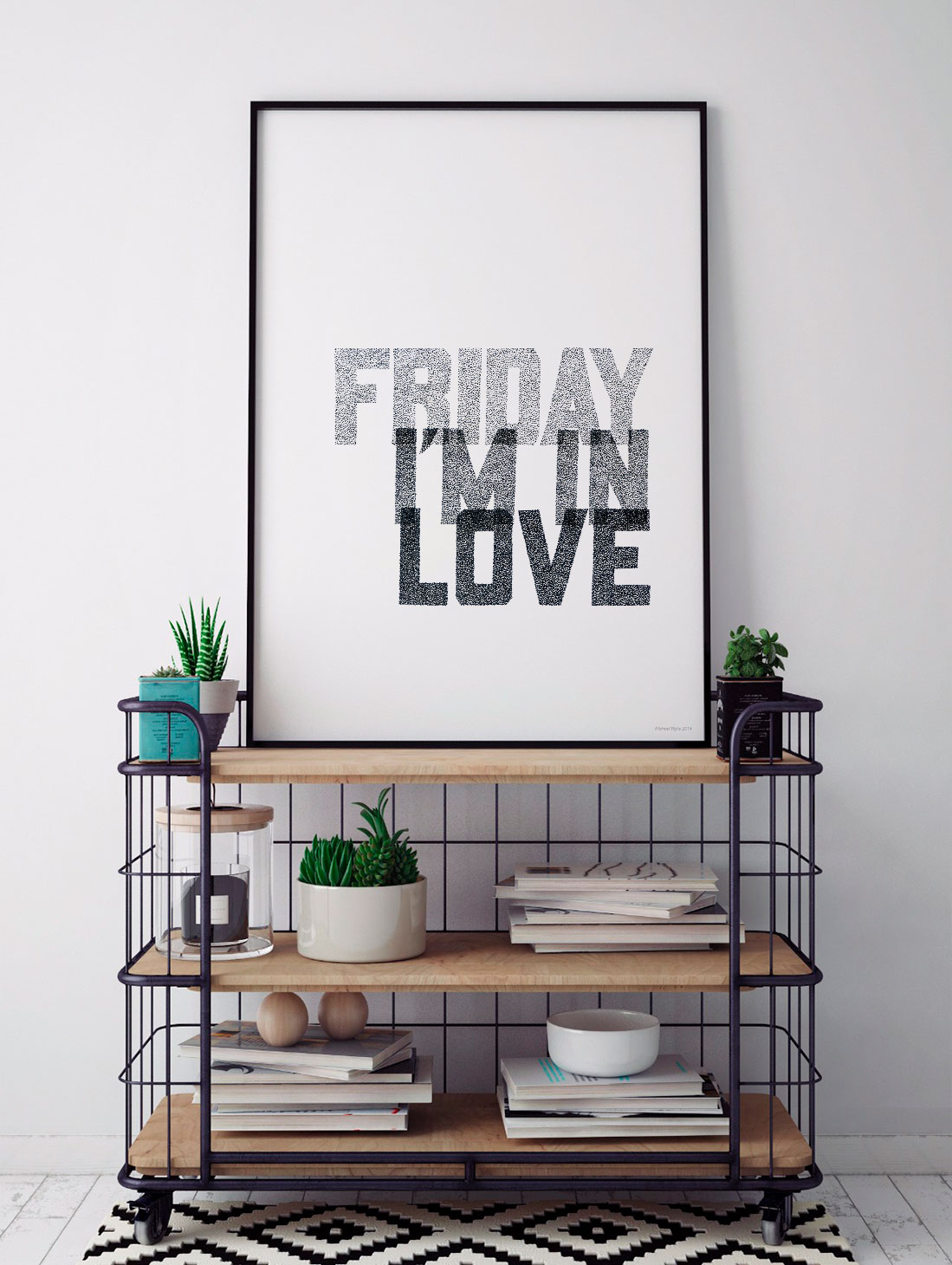 Friday I'm in Love. Music Typography Prints from Sketchbook Design. Hand drawn song lyric prints, music prints and personalised song lyric artwork.