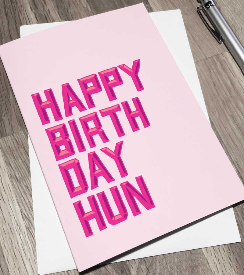 Happy Birthday cards from Sketchbook Design