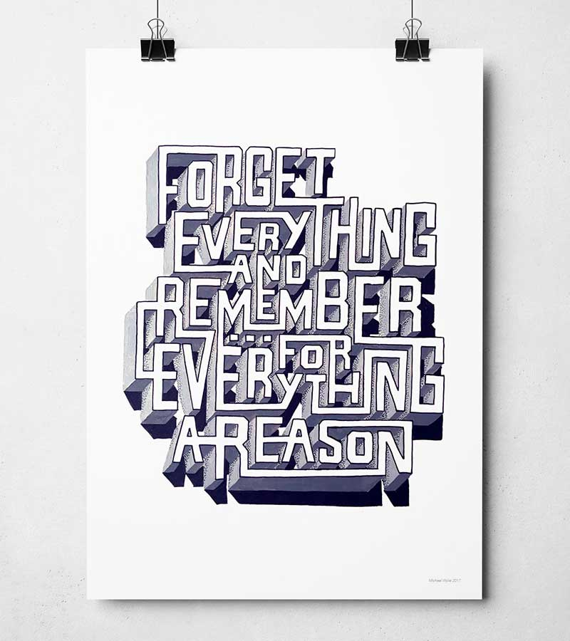 Sketchbook Design Music typography designs. Song Lyric prints.