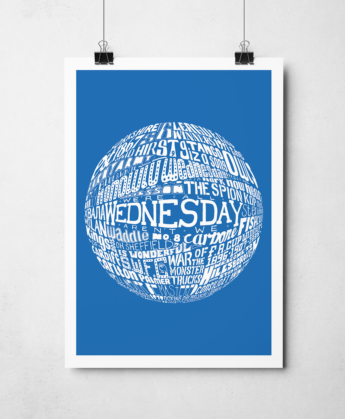 Sheffield Wednesday Football artwork football print by Sketchbook Design