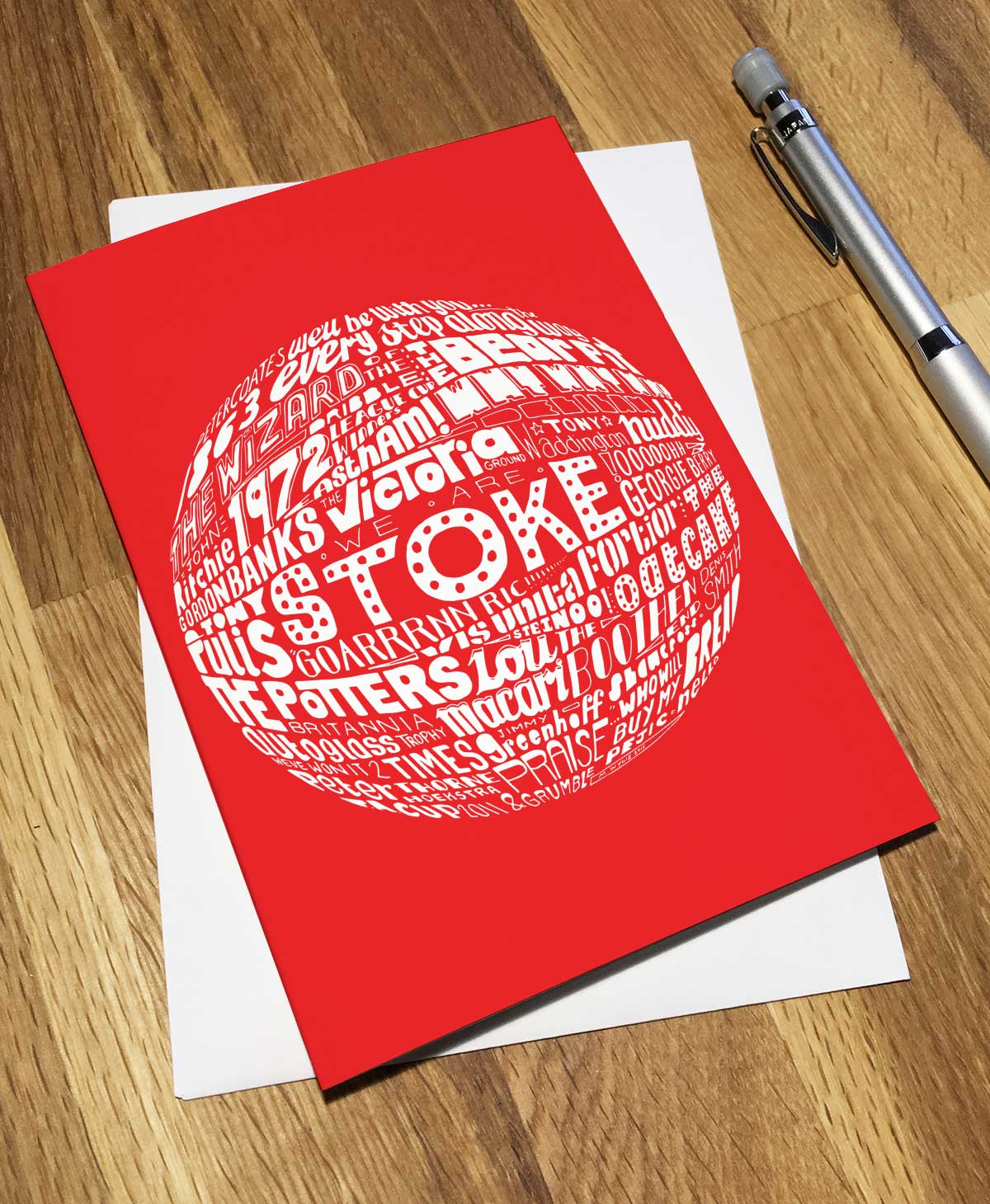 Stoke City Football Birthday Card from Sketchbook Design Football Greetings Cards