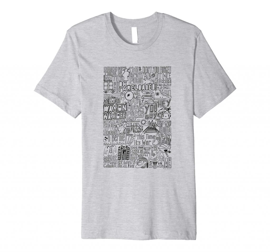 1980s Classic Films Movies T-shirt from Sketchbook Design