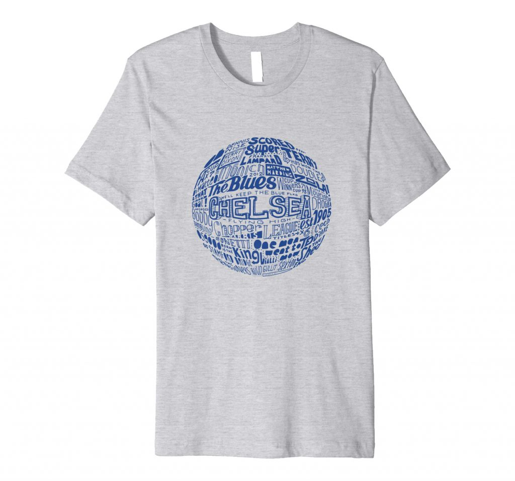 Chelsea Football T-shirt Typography T-shirt from Sketchbook Designs