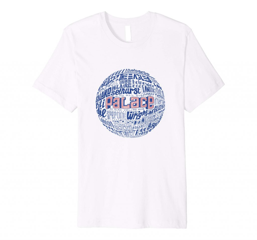 Crystal Palace Football T-shirt Typography T-shirt from Sketchbook Design