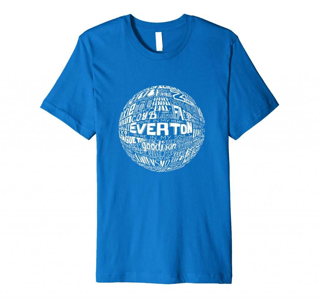 Everton Football T-shirt Typography T-shirt from Sketchbook Design