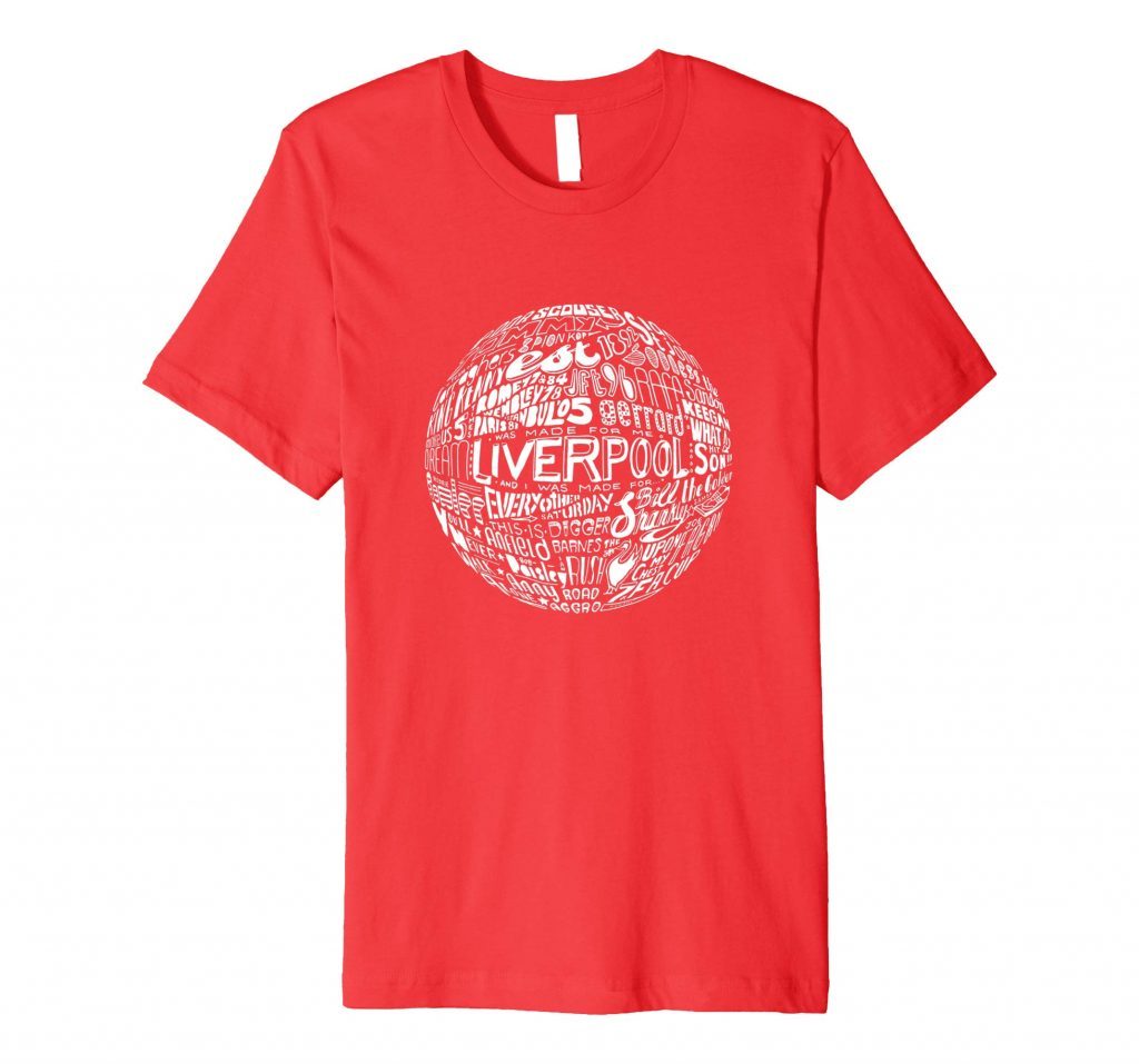 Liverpool Football T-shirt Typography T-shirt from Sketchbook Design