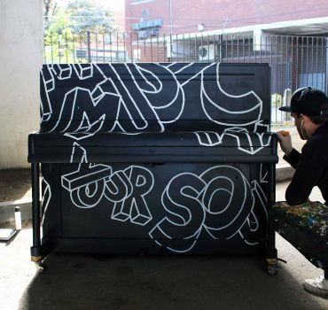 Hatch MCR Manchester Piano Mural by Sketchbook Design