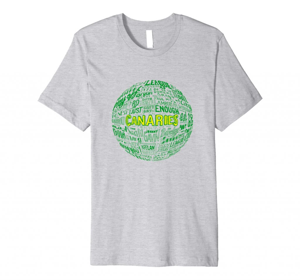 Norwich City Football T-shirt by Sketchbook Design