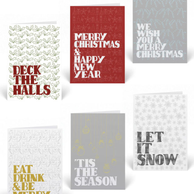 Pack of six Christmas cards from Sketchbook Design supporting the charity, Centrepoint.
