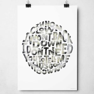 The Stone Roses Fools Gold print from Sketchbook Design