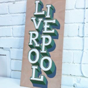 Hand-Painted Liverpool Sign by Sketchbook Design