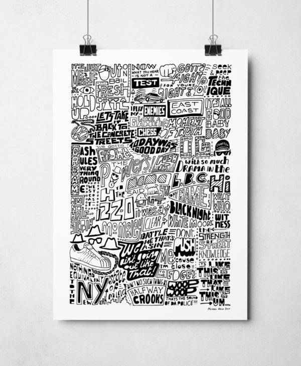 The History of Rap Music Original Signed Artwork by artist Michael Wylie