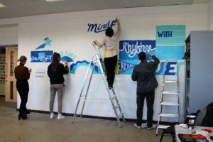 Gateshead College Peace Mural Work In Progress