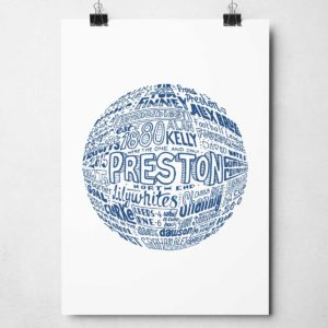 Preston North End Football Print from Sketchbook Design