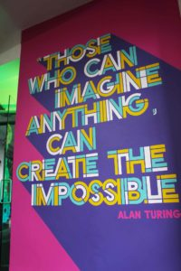 Alan Turing Quote wall mural at Radio.co in Manchester