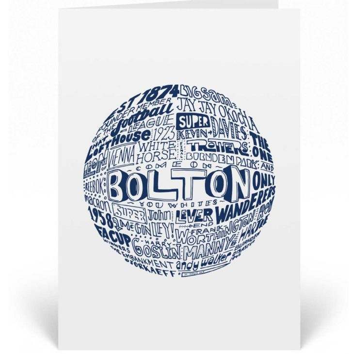 Bolton Wanderers Birthday Card