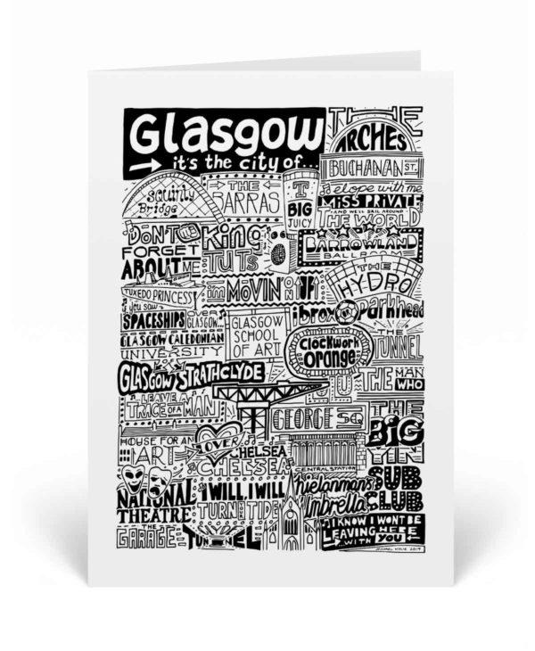 Glasgow Landmarks Greetings Card Glasgow Birthday Card