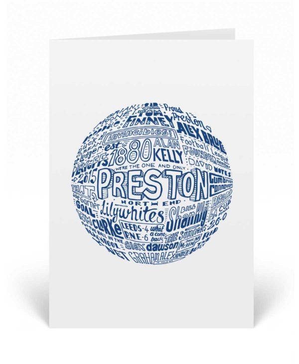 Preston North End Birthday Card