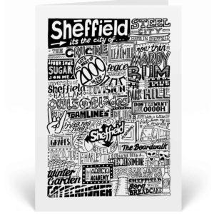 Sheffield Landmarks Greetings Card Sheffield Birthday Card