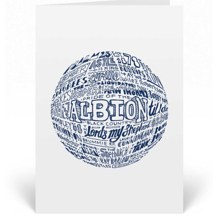 West Brom birthday card