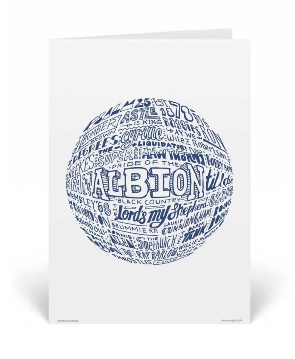 West Brom Birthday Card by Sketchbook Design. Part of our football greeting cards range