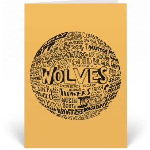 Wolves football birthday card