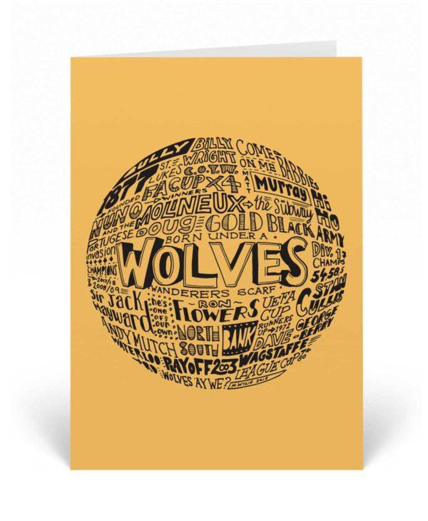 Wolves football birthday card
