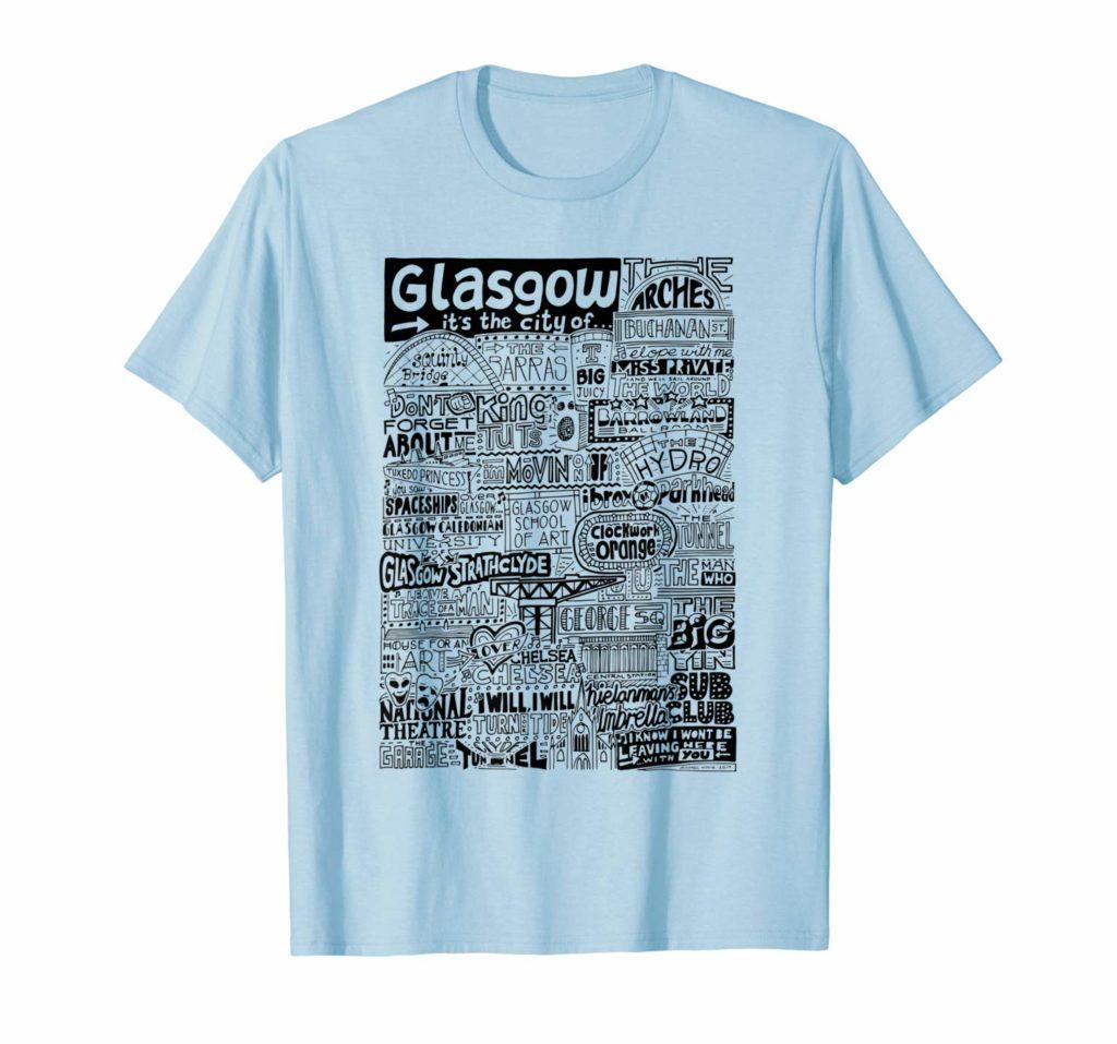 Glasgow Landmarks T Shirt from Sketchbook Design