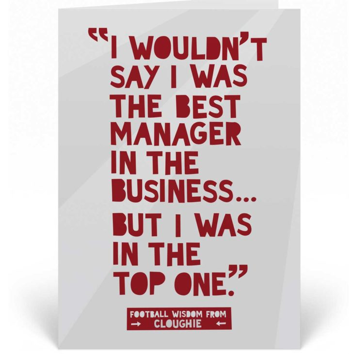 Funny Football Birthday Card - Brian Clough