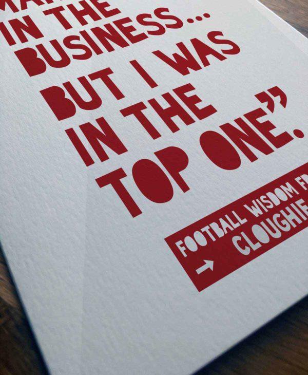 Funny Football Birthday Card - Brian Clough