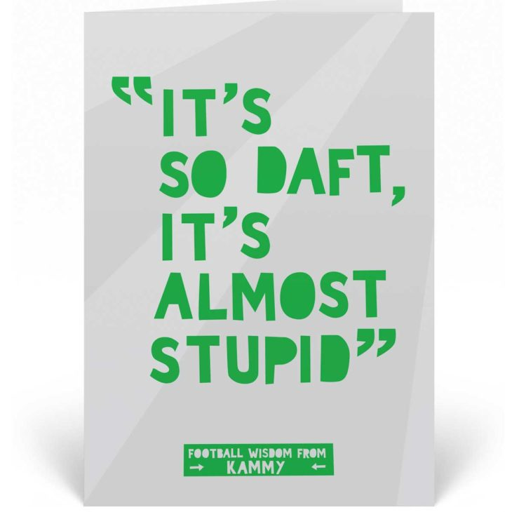 Funny Football Birthday Card - Chris Kamara