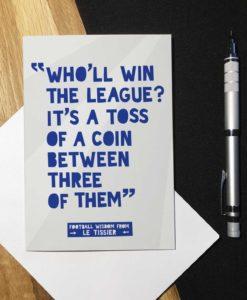 Funny Football Birthday Card - Matt Le Tissier