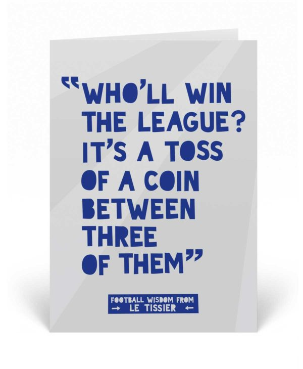 Funny Football Birthday Card - Matt Le Tissier