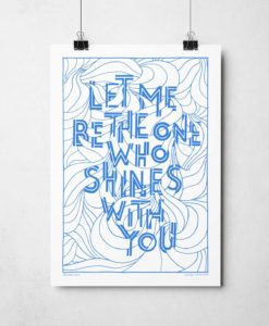 Let me be the one Print | Hand-drawn song lyric prints from Sketchbook Design