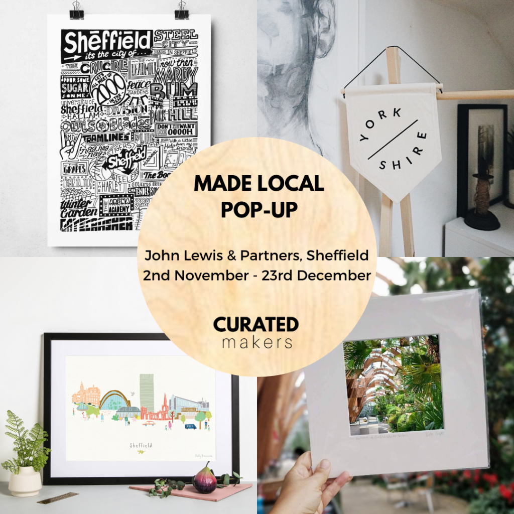 The Best Sheffield Inspired Christmas Gifts at the new Curated Makers Pop-up in John Lewis Sheffield