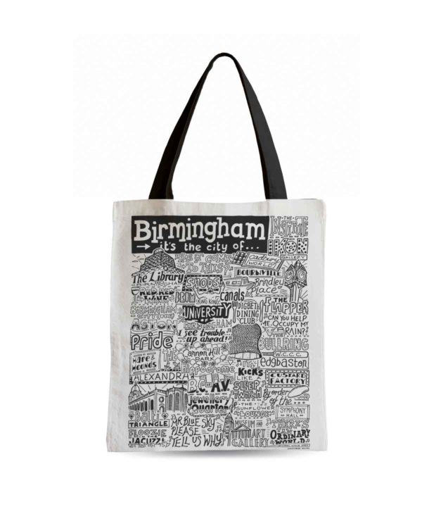 Birmingham Tote Bag from Sketchbook Design featuring our hand-drawn Birmingham illustration