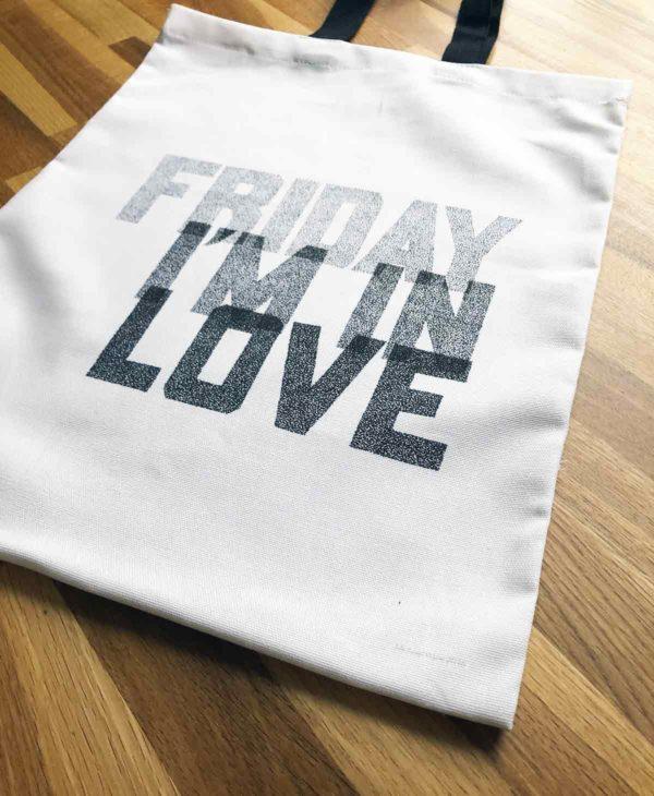 Friday I'm In Love Tote Bag from Sketchbook Design