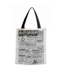 Nottingham Tote Bag from Sketchbook Design featuring our hand-drawn Nottingham illustration