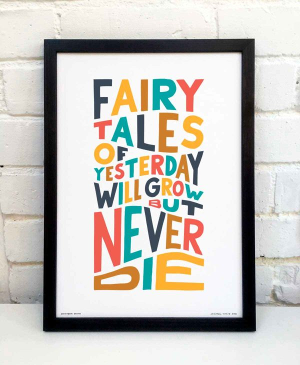 Fairy Tales of Yesterday Print | Music Prints and Song Lyric Prints From Sketchbook Design