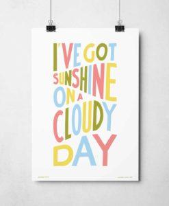 I've Got Sunshine Print | Music Prints and Song Lyric Prints From Sketchbook Design