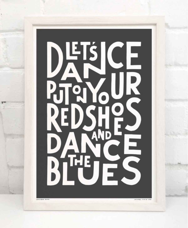 Lets Dance Print | Music Prints and Song Lyric Prints From Sketchbook Design