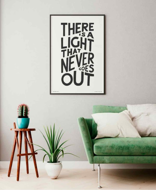 There is a Light that never goes out Print | Music Prints and Song Lyric Prints From Sketchbook Design