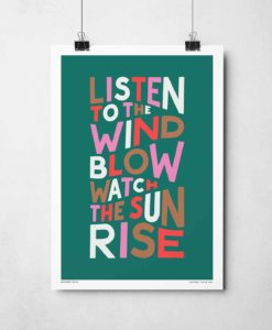 Listen to the Wind Blow Print